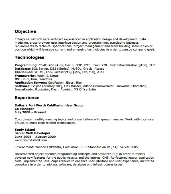 54+ Resume Templates Sample Templates