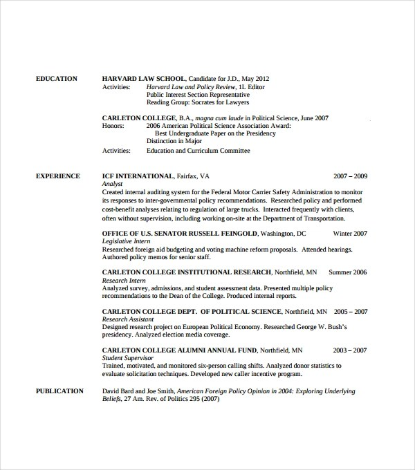 attorney resume template \u2013 brianhansme - Attorney Resume Template