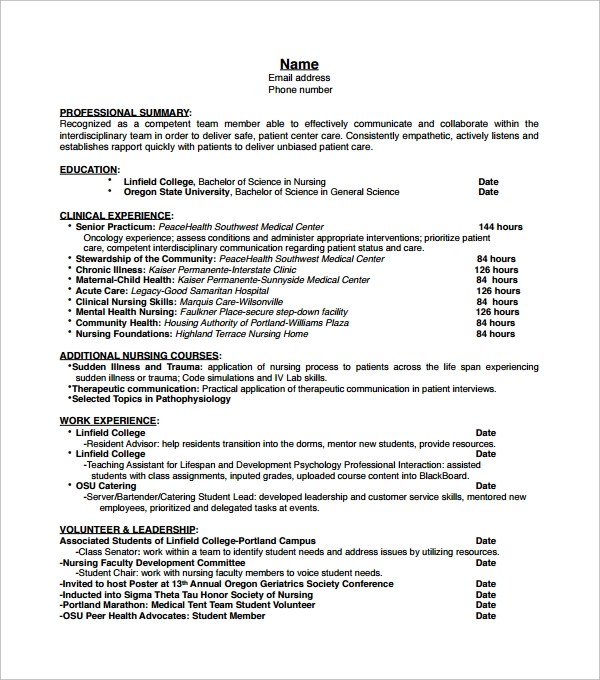 certified nurse aide resume