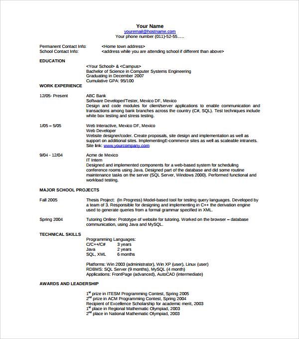 free modern resume template word