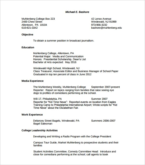 College Scholarship Resume Template Newsound Co Resume For Resume Objective  For Scholarship Application Sample College Resume  College Scholarship Resume Template
