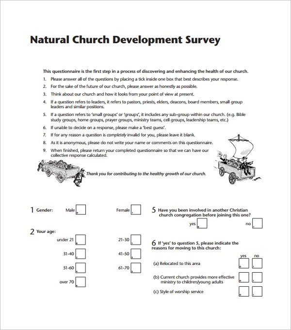 8 Church Survey Templates Download for Free Sample Templates