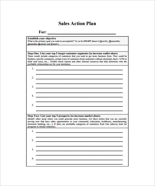23 Action Plan Templates Download for Free Sample Templates