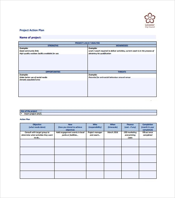 Project Action Plan Template Numbers Templates ActionPlan - Example Of An Action Plan Template