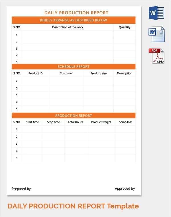 daily production report template - Eczasolinf - daily production schedule template