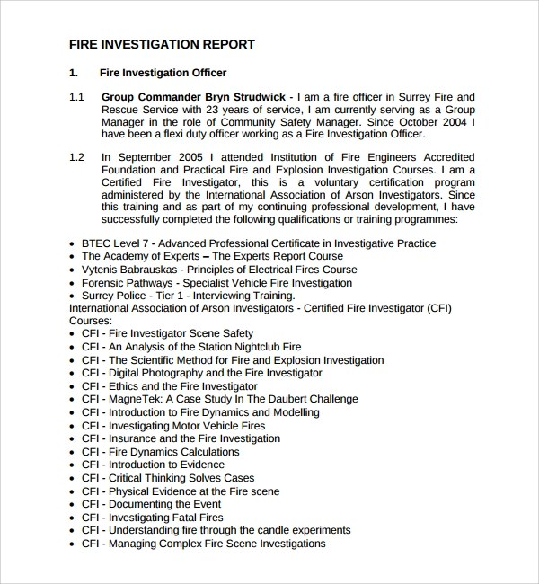 15 + Investigation Report Templates- Google Docs, Word, PDF, Apple Pages