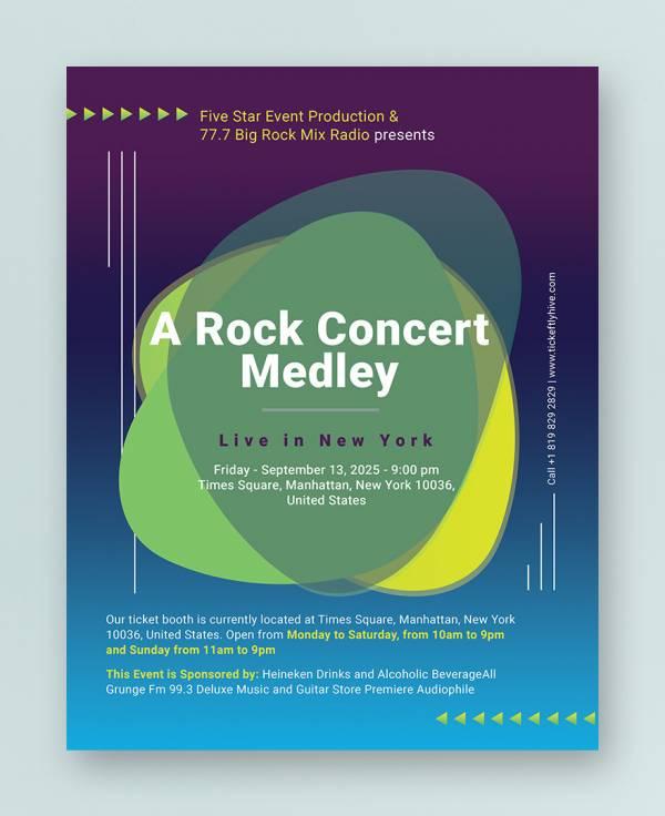 34+ Concert Flyer Templates - Word, Vector EPS, PSD Formats