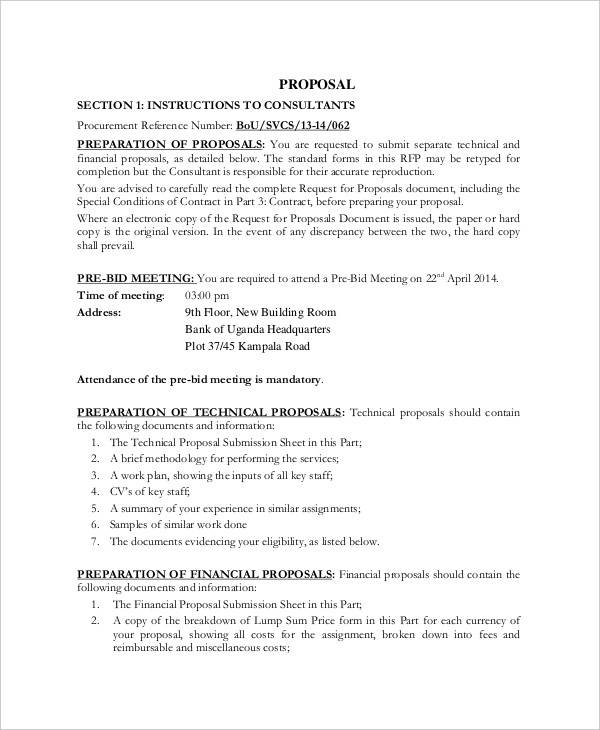 Sample Financial Proposal Template - 18+ Free Documents in PDF, Word