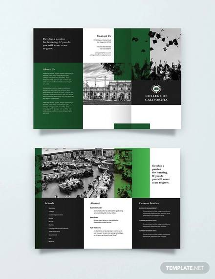 pages brochure template