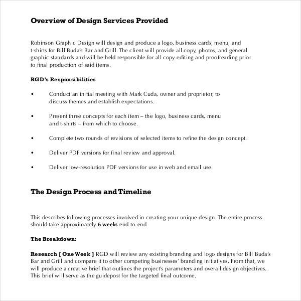 Sample Graphic Design Proposal Template - 11+ Free Documents in PDF - graphic design proposal template