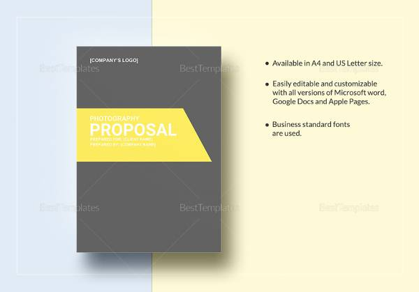 13+ Photography Proposal Templates Sample Templates
