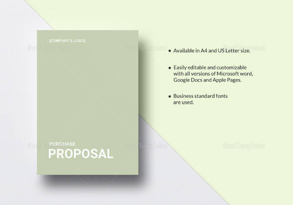 15 Purchase Proposal Templates Sample Templates - ms word proposal template