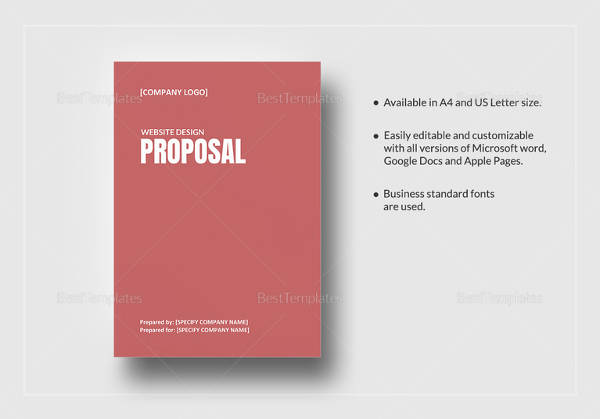 sample web design proposal