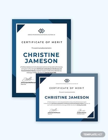 Sample Merit Certificate Template - 15+ Documents in PDF, Word, AI, PSD