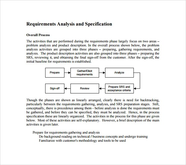 system requirements specification template - requirement analysis template