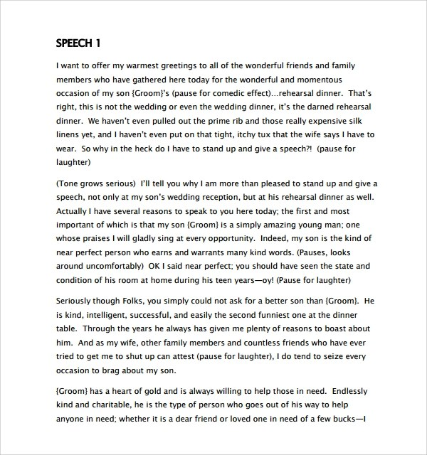 8+ Wedding Speech Examples \u2013 PDF Sample Templates - Wedding Speech Example
