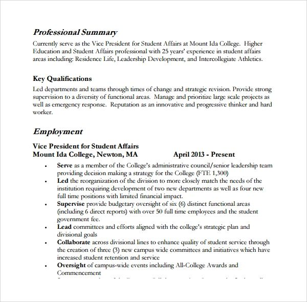 professional summary for resumes