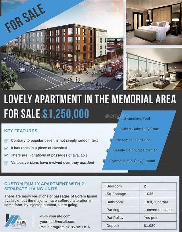 apartment flyers free templates