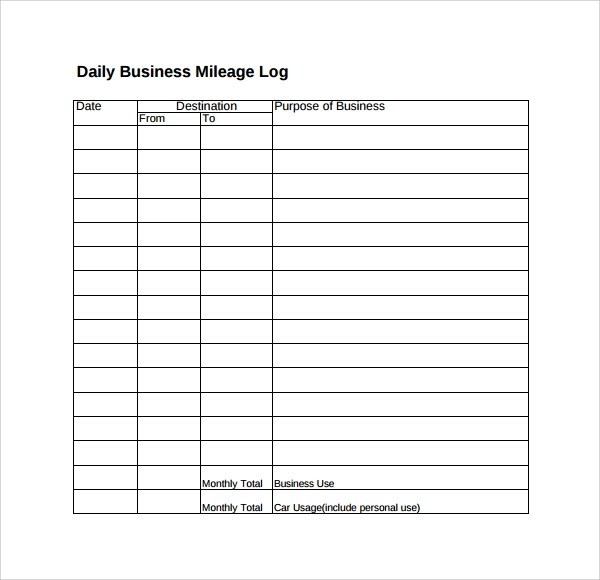 Sample Travel Log Template - 9+ Free Documents in PDF - log template sample