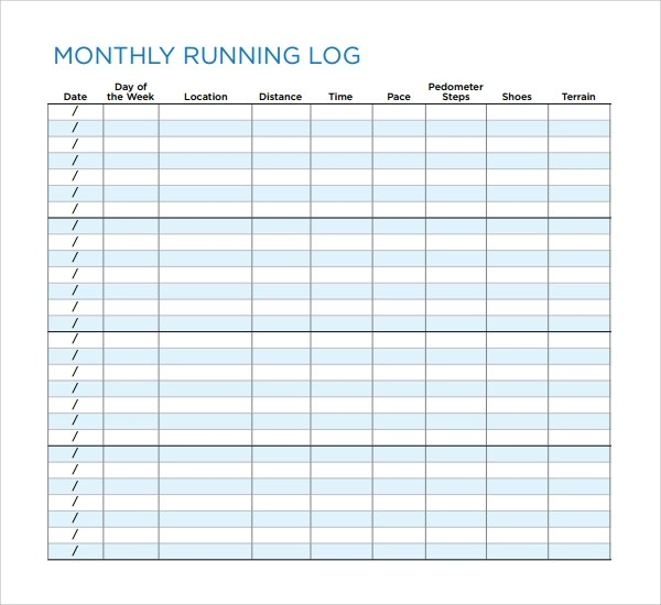 Free Exercise Log Template | Sample Customer Service Resume