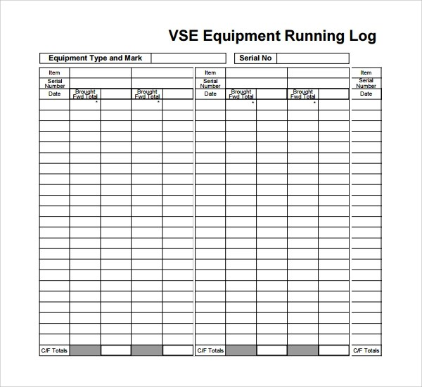 10 Running Log Templates to Download Sample Templates