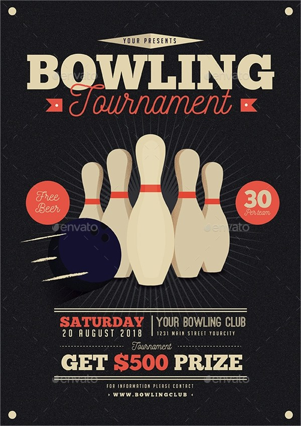 Bowling Flyers Templates Free Images Template Design Ideas