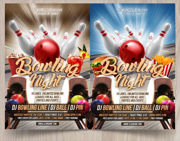 bowling flyer - Pinarkubkireklamowe