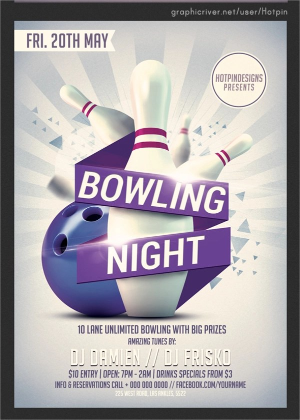 24+ Bowling Flyer Templates - Vector EPS, PSD