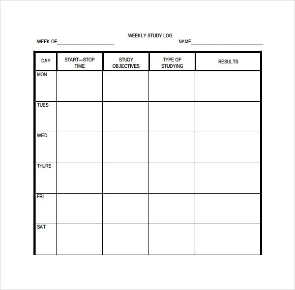 Weekly Goal Sheet Template  Functional Resume Vs