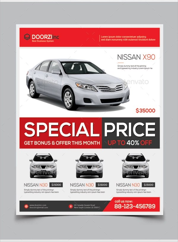 car for sale flyer template - Ozilalmanoof