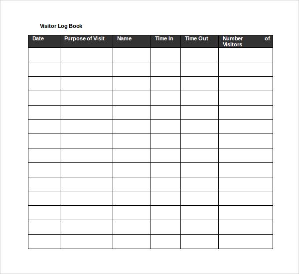 log book template download