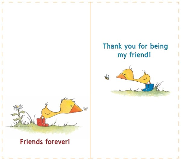 Friendship Card Templates 9+ Free Printable Word  PDF Samples