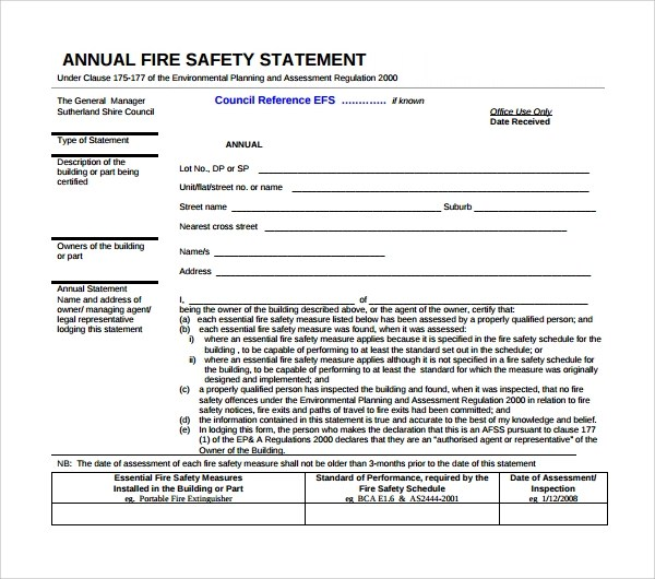 10 Safety Statement Templates to Download Sample Templates