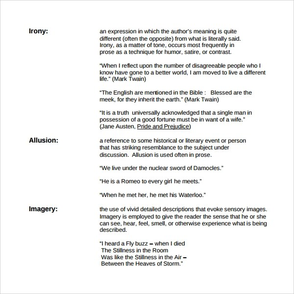 9 Figure of Speech Example Templates to Download Sample Templates