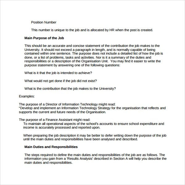 Sample Purpose Statement Template - 10+ Free Documents in PDF, Word