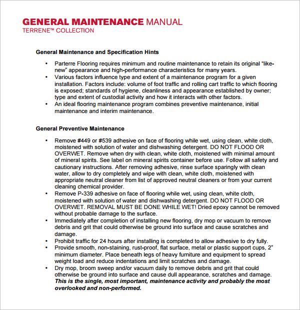 Om manual template free