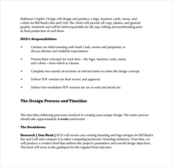 Sample Graphic Design Proposal Template - 9+ Free Documents in PDF - client proposal sample