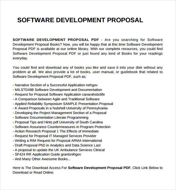 Software Development Proposal Template Get Free Sample - mandegarinfo - free online proposal template
