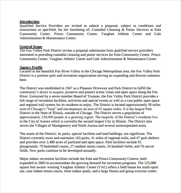 Business Proposal Template For Cleaning Services | Resume Sample