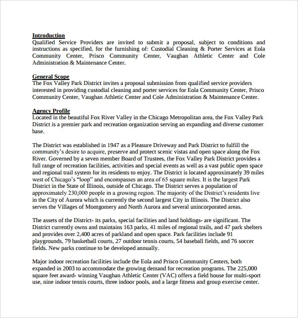 cleaning proposal template