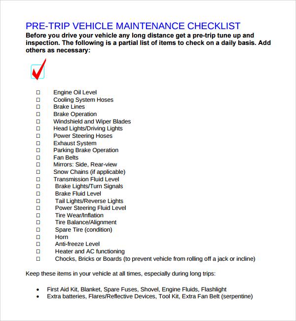 maintenance list template - Alannoscrapleftbehind - maintenance checklist template