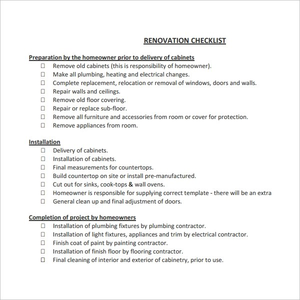 Renovation Contract Template Cleaning Contract Template Service - project contract templates