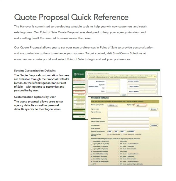 10 Quote Proposal Templates to Download Sample Templates - quote proposal template