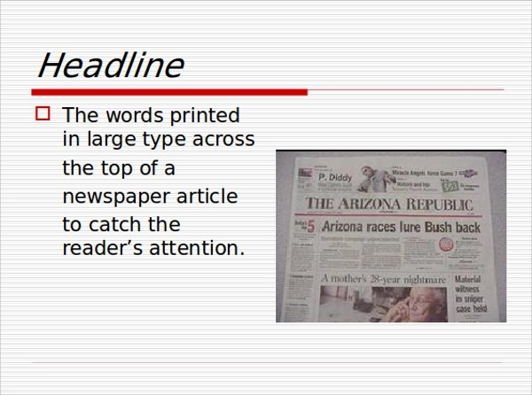 Sample Newspaper PowerPoint Template - 6+ Free Documents in PPT - newspaper headline template