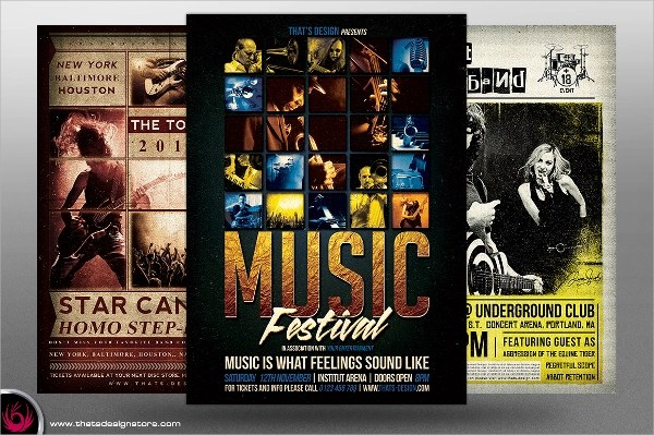 25+ Band Flyer Templates - Ms Word, Publisher, Apple Pages