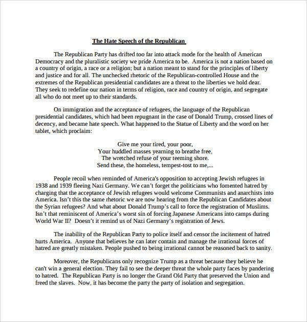 campaign speech example template wtfhyd - acceptance speech example template