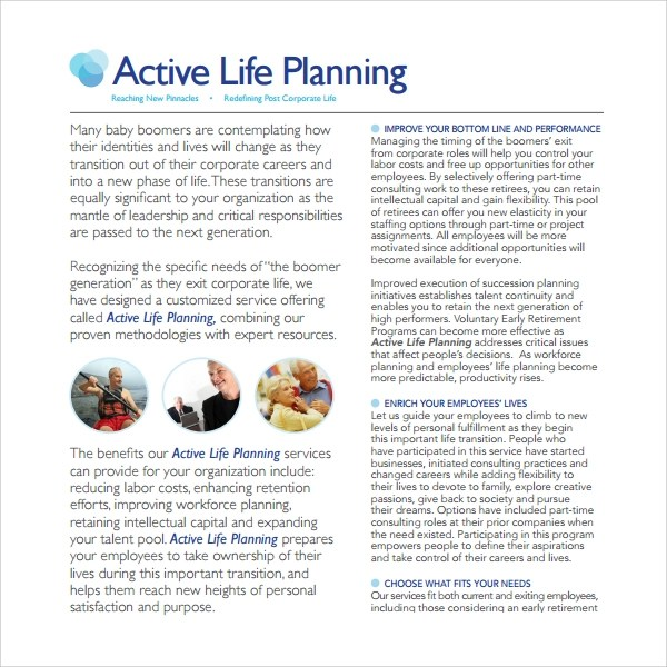 Sample Life Plan Template - 8+ Free Documents in PDF