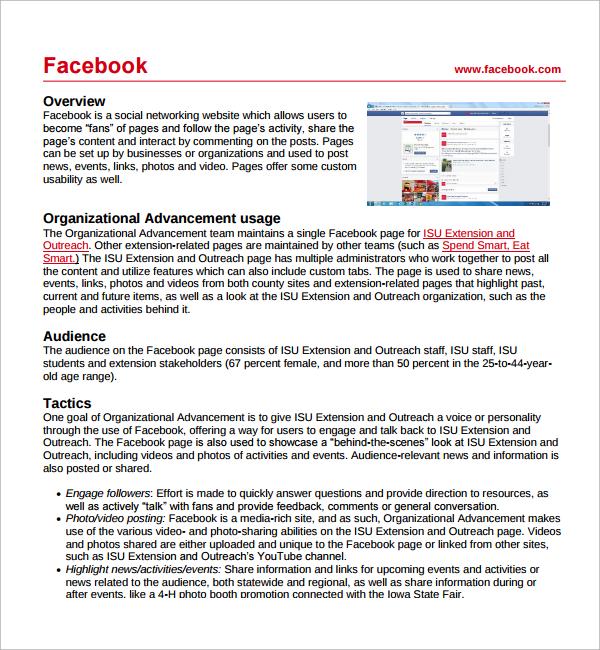 8+ Sample Social Media Plan Template - PDF,AI, Google docs, Apple page