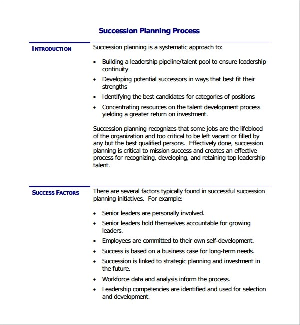 Business Forms And Templates Free Business Forms Sample Succession Planning Template 9 Free Documents In