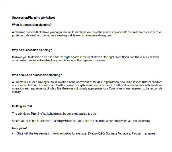 10+ Succession Planning Templates Sample Templates - succession planning template